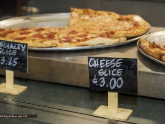 Lunchtime pizza by the slice at Tippens Specialty Wine & Foods