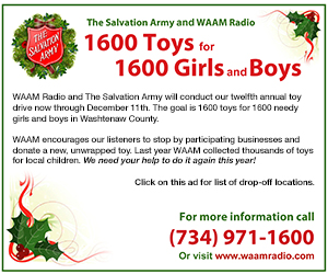 WAAM 1600 Toys for 1600 Girls and Boys gift donation drive